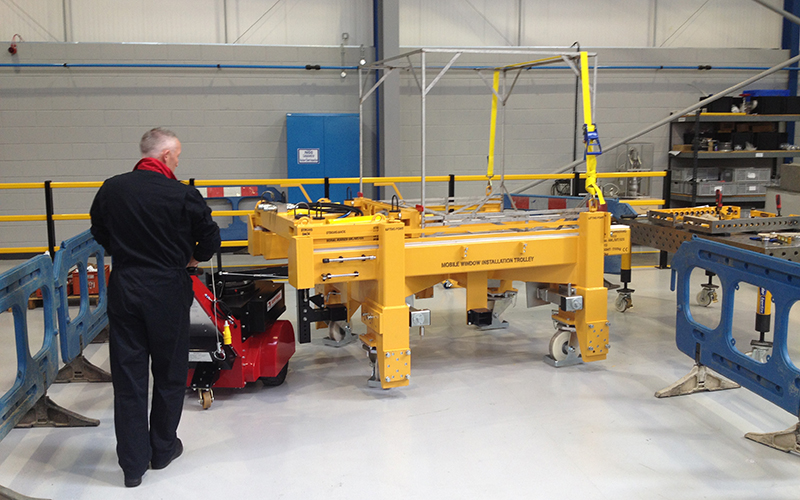 Heavy Weight Super Power Pusher, with Steering Arm, moving specialist 7,000Kg trolley for BNFL